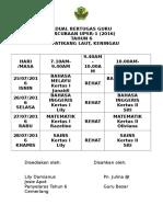 Jadual Kelas Cuti Sekolah-UPSR 2017