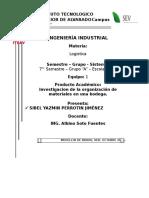 Investigacion Organizacion de Materiales en Una Bodega