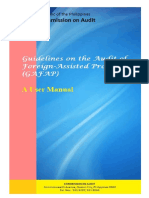 Audit of Foreign Assisted Projects Manual