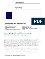 Improving Diagnostic and Clinical Interviewing