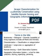 04 Nov 2015 Landscape Characterization for Biodiversity_ Dr Sarnam Singh