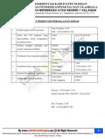 Surat Perintah Tugas Spt Sppd