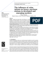 The Influence of Value Perceptions on Luxury Purchase