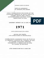 Advisory Opinion on Namibia (1971)