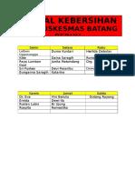 daftar petugas kebersihan