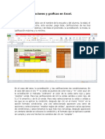 Tabla de Calificaciones y Graficas en Excel