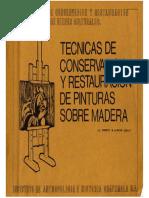 Tecnicas Conservacion y Restauracion Pinturas en Madera