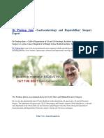 >Dr Pradeep Jain - Chief Of Dept. of GI At Action Cancer Hospital