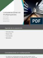 Tema 5 - Consideraciones en Multiproyectos