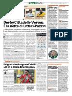 La Gazzetta dello Sport 18-11-2016 - Intervista a Brighenti - Calcio Lega Pro