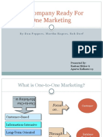 Is Your Company Ready for One-To-One Marketing