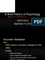 Chapter 1 - A Brief History of Psychology SV