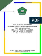 Pedoman Pelaksanaan Pembangunan Gedung Balai Nikah Dan Manasik Haji 2015