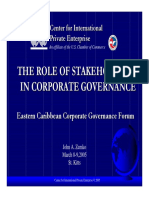 Role of Stakeholders in CorpGov