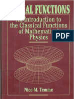 Special Functions an Introduction to the Classical Functions of Mathematical Physics - Nico m. Temme2