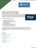 World Health Organization, Millennium Development Goals (MDGs)