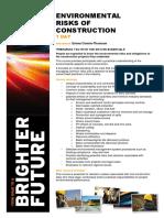 Environmental Risks of Construction