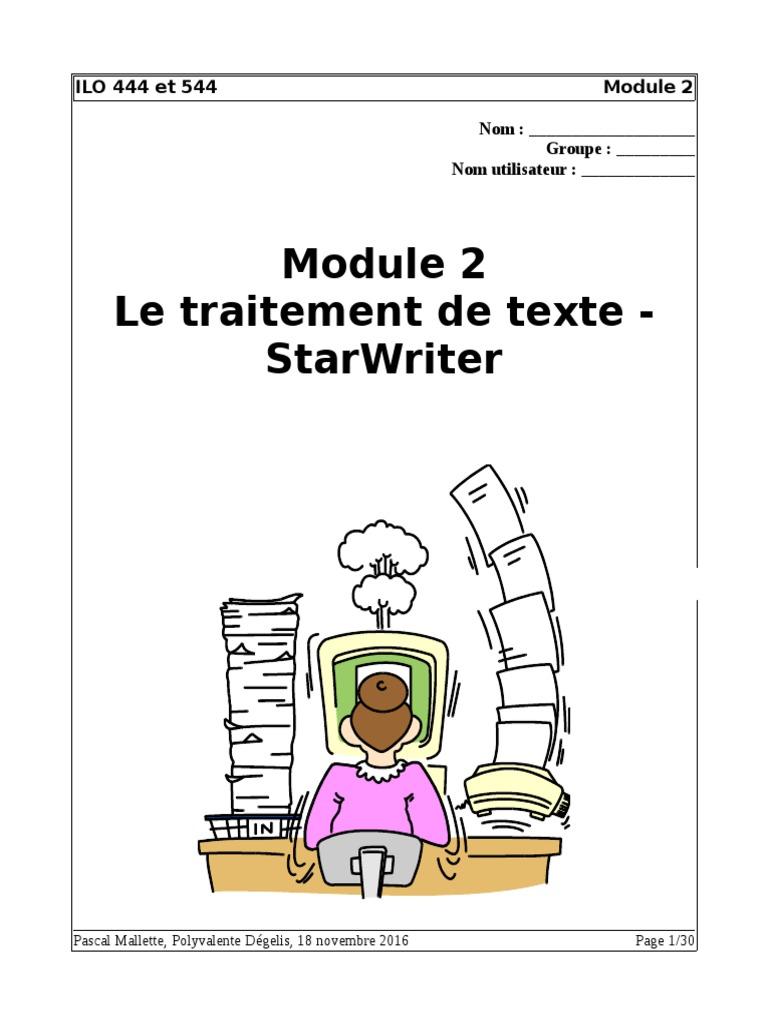 1.0 Writer - Exercices.odt | Disquette | Traitement de texte