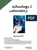 Biotech 2 Lab Manual