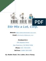 Stir Mix a Lot Business Proposal Final (BUS-300 GWAR)