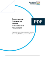 Auckland Council Governance Review Released Nov 2016