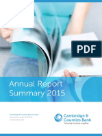 Cambridge & Counties Bank_2015 Annual Report Summary1