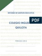 Informe de Gestion 2013