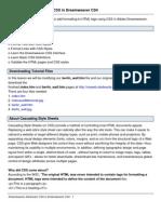 Dream Weaver Advanced CSS CS4