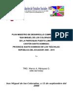 Plan Maestro de San Miguel 2008-2015