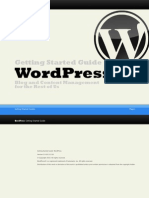 WordPress Getting Started Guide