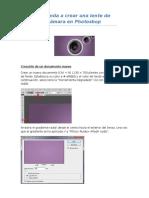 Aprenda a Crear Una Lente de Cámara en Photoshop