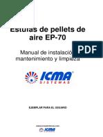 Manual de Instalacion, Mantenimiento y Limpieza Estufa de Pellets de Aire EP-70