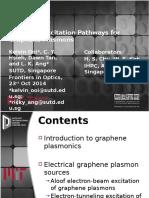 Electrical Excitation of Graphene Plasmons
