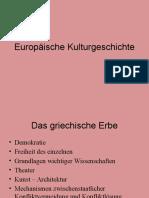 Europäische Kulturgeschichte I