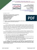 RECORDED Case No. 16-mc-49 Chapter 11 DECLARATION Re LETTER to Judy Astacio, Consumer Services Investigator, Pennsylvania Department of Insurance November 18, 2016
