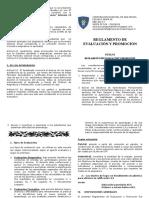 Extracto de Reglamento de Evaluación y Promoción