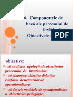 Tema 6. Componentele de Baza Ale Procesului de Invatamint