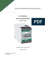 Littelfuse ProtectionRelays SE 704 Earth Leakage Monitor Manual
