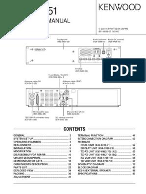 Kenwood TKR751 Service Manual   Amplifier   Electrical Circuits