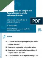 Imposte Di Scopo e Finanziamento Sviluppo Locale