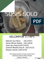 5 Langkah Awal Kelompok 1 Sosis Solo
