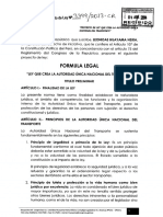 PROYECTO DE LEY - Autoridad Unica en Trasnporte - Perú