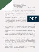 Probability Theory I 2008-09