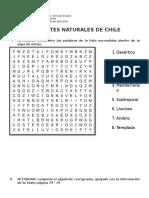 Actividades Climas Naturales de Chile 6° Básicos