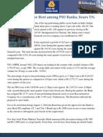 Indian Bank the Best Among PSU Banks
