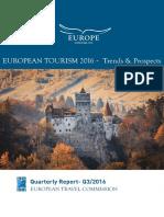 European Tourism 2016 - Trends & Prospects (q3 2016)