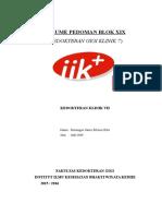 Resume Pedoman Blok Xix