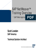 Sap Netweaver Training Overview - Sap Web Application Server