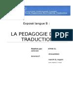 Exposé Pédagogie de La Traduction