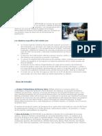 Estudio de Transporte Publico - Objetivos
